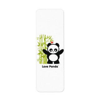 Amor Panda® Etiqueta De Remitente