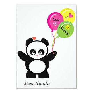 Amor Panda® Invitación 12,7 X 17,8 Cm