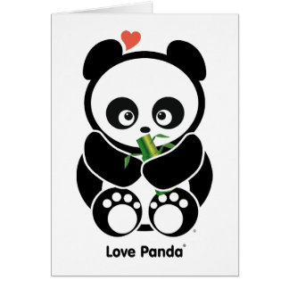 Amor Panda® Tarjeta De Felicitación