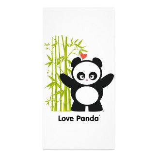 Amor Panda® Tarjeta Fotografica