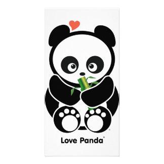 Amor Panda® Tarjeta Personal Con Foto