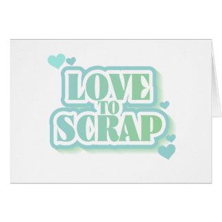 Amor para desechar las camisetas y los regalos tarjeta de felicitación