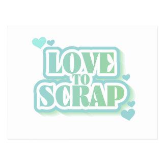 Amor para desechar las camisetas y los regalos postal