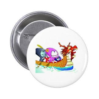 Amor para dragonboating chapa redonda de 5 cm