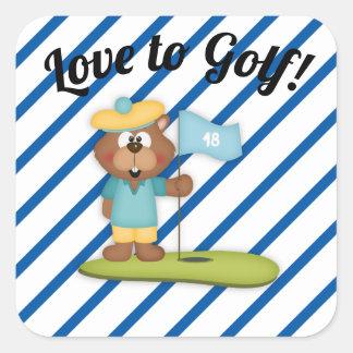 Amor para golf al pegatina de la raya del agujero