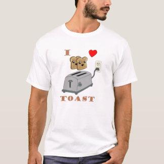 Amor para la camiseta de la tostada