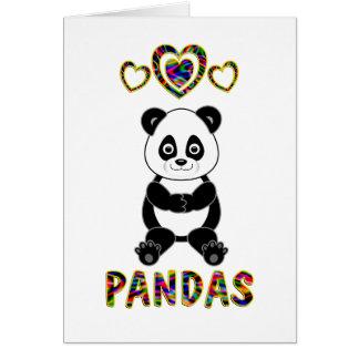 Amor para las pandas tarjetas