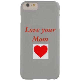 Amor para su caja del teléfono de Mom.3D Funda Barely There iPhone 6 Plus