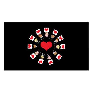 Amor para todos plantilla de tarjeta de visita