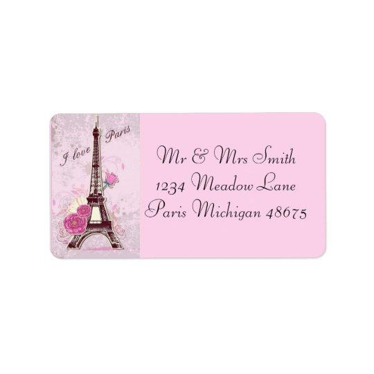 Amor París de la dirección Labels/I Etiqueta De Dirección