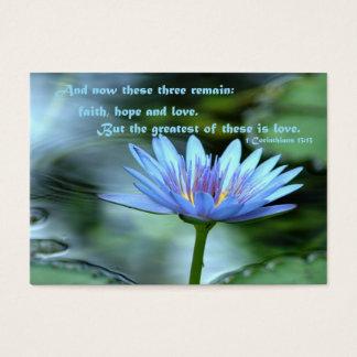 Amor - parte posterior del espacio en blanco tarjeta de visita