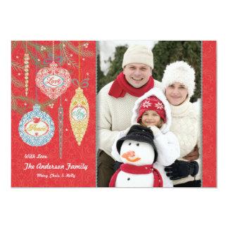 Amor, paz, alegría, tarjeta de la foto de los invitación 12,7 x 17,8 cm
