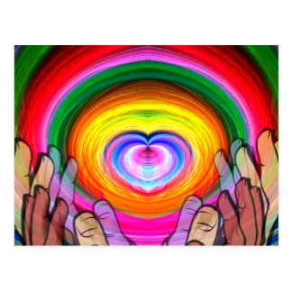 Amor, paz y Unity_ Postal