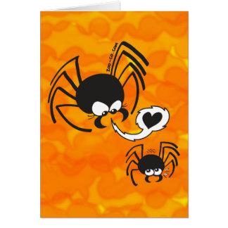 Amor peligroso de la araña tarjetón