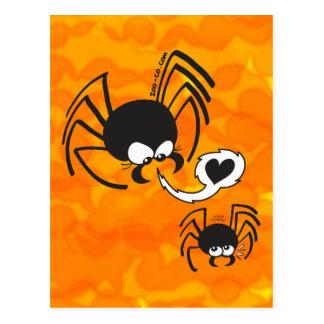 Amor peligroso de la araña postal