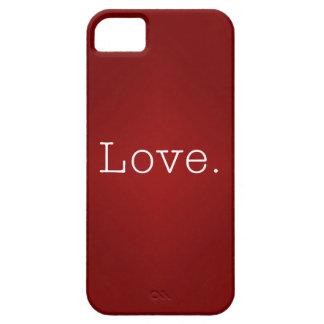Amor.  Pendiente roja sangre y cita blanca del iPhone 5 Case-Mate Fundas