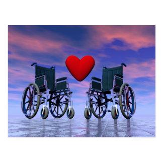 Amor perjudicado de las personas - 3D rinden Postal