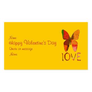 Amor pintado mariposa tarjetas de visita