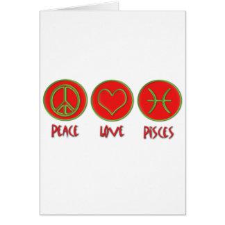 Amor Piscis de la paz Tarjeta De Felicitación