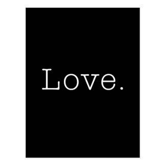 Amor. Plantilla blanco y negro de la cita del amor Postal