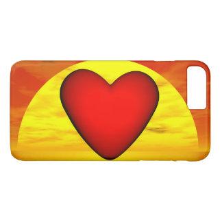 Amor por puesta del sol - 3D rinden Funda iPhone 7 Plus