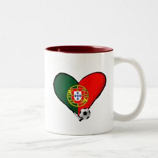 ¿Amor, Portugal e Futebol - quer del vôce de los Taza De Dos Tonos