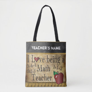 Amor que es un nombre del profesor de matemáticas bolsa de tela