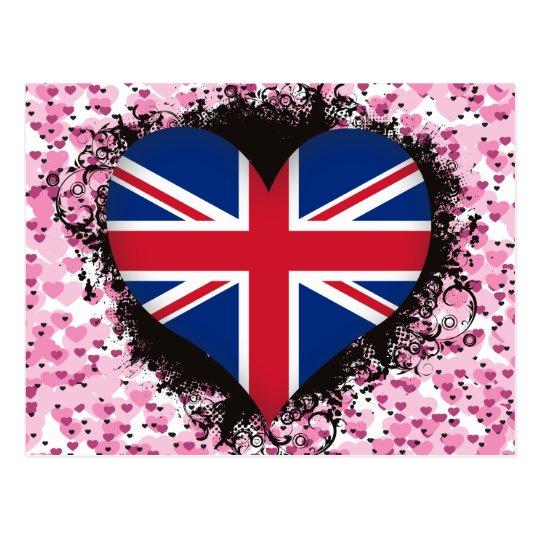Amor Reino Unido del vintage I Postal
