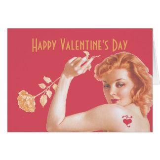 Amor retro de los años 40 tarjeta de felicitación