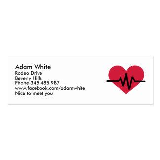Amor rojo de la frecuencia de corazón plantillas de tarjetas personales