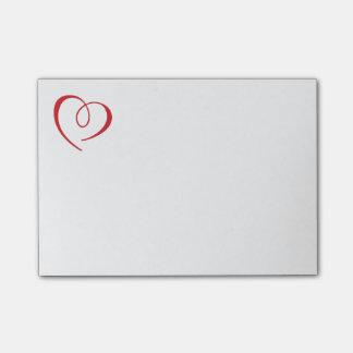 Amor rojo del corazón - boda, compromiso, tarjetas notas post-it®