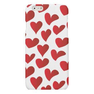 Amor rojo pintado modelo del corazón del ejemplo