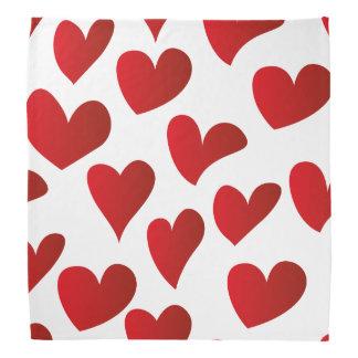 Amor rojo pintado modelo del corazón del ejemplo bandana