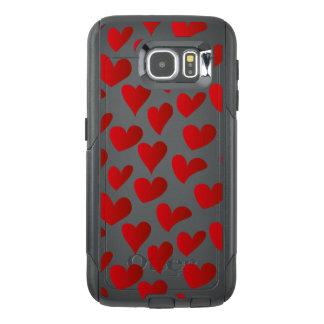 Amor rojo pintado modelo del corazón del ejemplo funda OtterBox para samsung galaxy s6