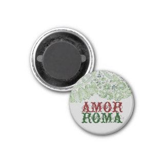 Amor Roma con el cordón verde Imán Redondo 3 Cm