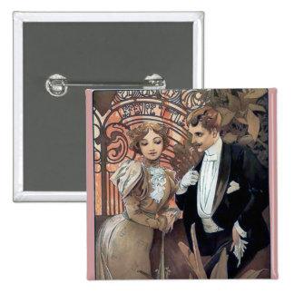 Amor romántico del hombre de la mujer del ligón de chapa cuadrada 5 cm