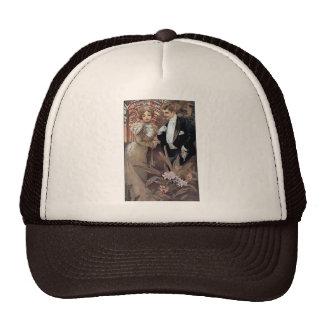 Amor romántico del hombre de la mujer del ligón de gorras