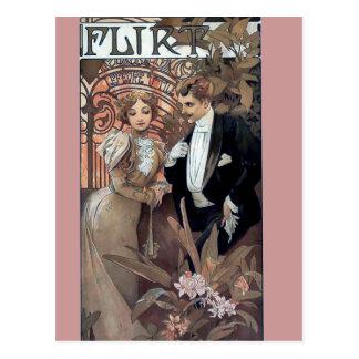 Amor romántico del hombre de la mujer del ligón de postal