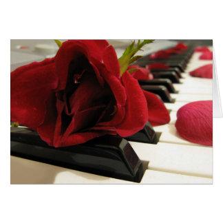 Amor romántico del rosa rojo tarjeta de felicitación