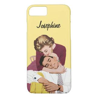 Amor romántico del vintage, romance retro en funda iPhone 7