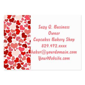 Amor rosado del el día de San Valentín del modelo Tarjetas De Visita Grandes