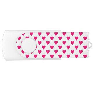 Amor rosado lindo del modelo del corazón memoria USB