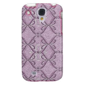 Amor rosado púrpura iPhone3G de la cinta Funda Para Galaxy S4