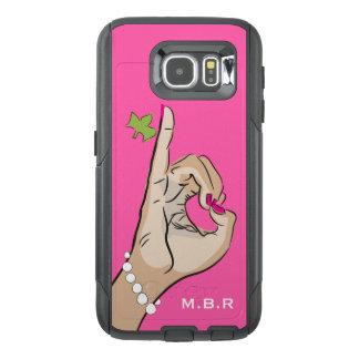 Amor rosado y verde bonito real funda OtterBox para samsung galaxy s6