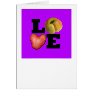 AMOR - saludo púrpura Tarjeta De Felicitación