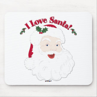 ¡Amor Santa de Santa I del vintage! Alfombrilla De Ratón