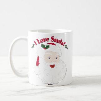 ¡Amor Santa de Santa I del vintage! Taza Clásica