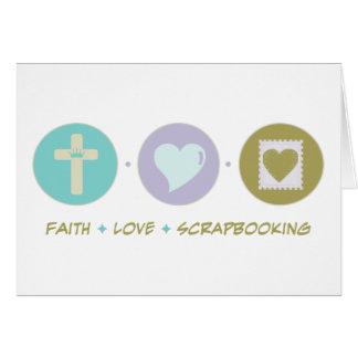 Amor Scrapbooking de la fe Felicitación