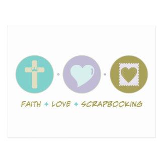 Amor Scrapbooking de la fe Postales