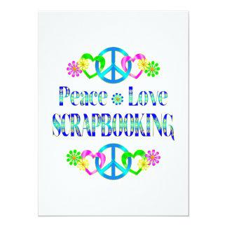 Amor Scrapbooking de la paz Invitación Personalizada